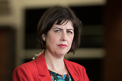 © Licensed to London News Pictures . 08/06/2017 . Manchester , UK . LUCY POWELL of the Labour Party at the Manchester Central Convention Centre where the count for the constituencies of Blackley and Broughton, Manchester Central, Manchester Gorton, Manchester Withington and Wythenshawe and Sale East, in the General Election, is taking place . Photo credit : Joel Goodman/LNP