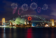 O for Oprah is lit up on the Sydney Harbour Bridge