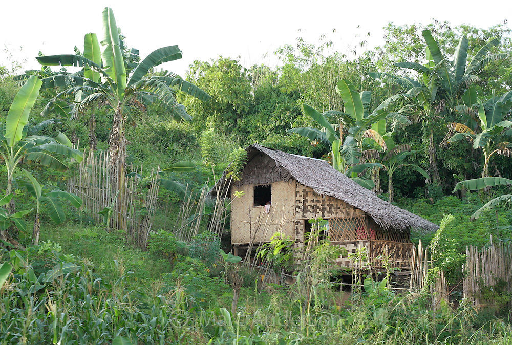 A traditional nipa house in the Philippines