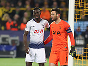 Hugo Llioris and Davinson Sánchez Tottenham Hotspur during the Champions League round of 16, leg 2 of 2 match between Borussia Dortmund and Tottenham Hotspur at Signal Iduna Park, Dortmund, Germany on 5 March 2019.