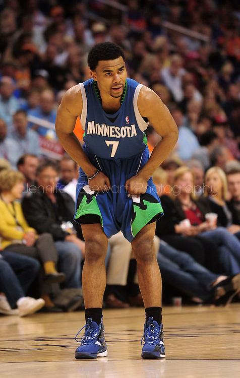 Mar. 16 2010; Phoenix, AZ, USA; Minnesota Timberwolves guard Ramon Sessions (7) during the second half at the US Airways Center. The Suns defeat the Timberwolves 152-114. Mandatory Credit: Jennifer Stewart-US PRESSWIRE.