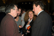 IAN MCEWAN, NICOLE FAHRI AND SIR DAVID HARE, party to celebrate the 100th issue of Granta magazine ( guest edited by William Boyd.) hosted by Sigrid Rausing and Eric Abraham. Twentieth Century Theatre. Westbourne Gro. London.W11  15 January 2008. -DO NOT ARCHIVE-© Copyright Photograph by Dafydd Jones. 248 Clapham Rd. London SW9 0PZ. Tel 0207 820 0771. www.dafjones.com.