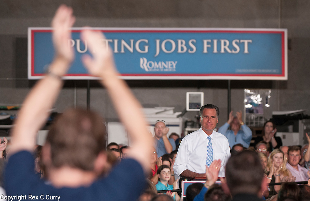 Republican presidential nominee Mitt Romney speaks to a crowd of over 500 at Southwest Office Systems in Fort Worth, Tx. Tuesday, June 5, 2012.