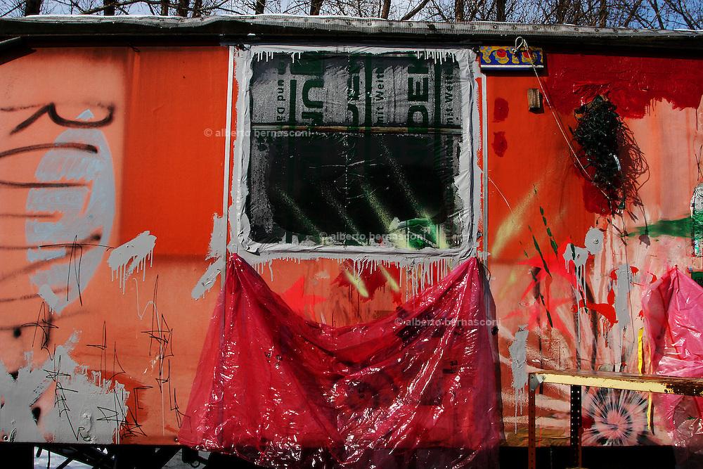 Berlin: Caravan in the outskirt of Berlin.