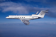 Gulfstream V in flight, side view