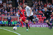 Paul Anderson during the Capital One Cup match between York City and Bradford City at Bootham Crescent, York, England on 11 August 2015. Photo by Simon Davies.