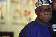 """Former President of Nigeria, Olusegun Obasanjo at the opening reception of The 12th Annual RainbowPUSH Wall Street Project Economic Summit """" Fallout From The Bailout: A New Day in Washington """""""