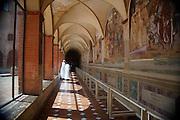 Italy, Tuscany, Abbey of Monte Oliveto Maggiore a large Benedictine monastery near Asciano