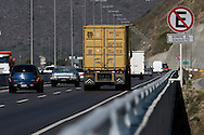 Cars passing across the venezuelan major bridge called viaduct #1. This bridge is the key route to the country's main airport in Venezuela. Feb 27 2008. (ivan gonzalez).