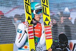 24.02.2019, Bergiselschanze, Innsbruck, AUT, FIS Weltmeisterschaften Ski Nordisch, Seefeld 2019, Skisprung, Herren, Teambewerb, Wertungssprung, im Bild Michael Hayboeck (AUT) // Michael Hayboeck of Austria during the competition jump for the men's skijumping Team competition of FIS Nordic Ski World Championships 2019 at the Bergiselschanze in Innsbruck, Austria on 2019/02/24. EXPA Pictures © 2019, PhotoCredit: EXPA/ Dominik Angerer