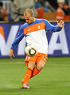CAPE TOWN, SOUTH AFRICA- Tuesday 6 July 2010, Wesley Sneijder warms up during the semi final match between Uruguay and the Netherlands (Holland) held at the Cape Town Stadium in Green Point during the 2010 FIFA World Cup..Photo by Roger Sedres/Image SA