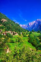 Alpine scene, Soglio, Switzerland