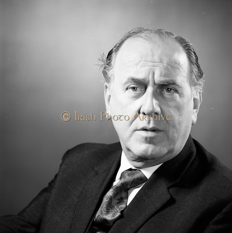 06/03/1973<br /> 03/06/1973<br /> 06 March 1973<br /> Headshots of Joe Kearns, Director of the Gaiety Theatre, Dublin.