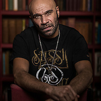 &copy;Andrew Baker<br /> LONDON UK. Musician, DJ, Music Producer, Artist Film and TV Actor and now Stage Actor Goldie in between rehearsals for Kingston14 at Theatre Royal Stratford  East. Kingston 14 will be Goldie's first Theatre production as an actor.<br /> Photo credit : ANDREW BAKER<br /> 07977074356