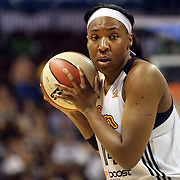 Kelsey Bone, Connecticut Sun,  in action during the Connecticut Sun Vs Tulsa Shock WNBA regular season game at Mohegan Sun Arena, Uncasville, Connecticut, USA. 3rd July 2014. Photo Tim Clayton