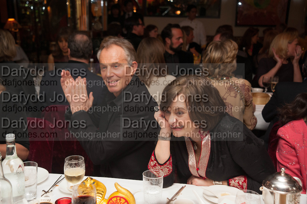 TONY BLAIR; CHERIE BLAIR, Chinese New Year dinner given by Sir David Tang. China Tang. Park Lane. London. 4 February 2013.