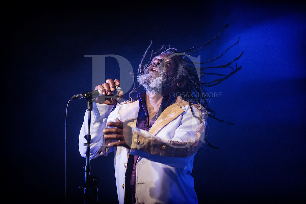 GLASGOW, UNITED KINGDOM - JANUARY 31: Winston McAnuff performs on stage during Celtic Connections Festival at The Arches on January 31, 2014 in Glasgow, United Kingdom. (Photo by Ross Gilmore