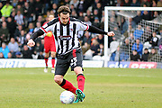 Grimsby Town midfielder Andrew Fox (23) controls the ball  during the EFL Sky Bet League 2 match between Grimsby Town FC and Port Vale at Blundell Park, Grimsby, United Kingdom on 10 March 2018. Picture by Mick Atkins.