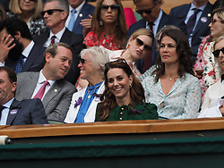 July 13, 2019 - London, England - LONDON, ENGLAND - JULY 13:  Catherine, Duchess of Cambridge  attend the Women's Singles Final of the Wimbledon Tennis Championships at All England Lawn Tennis and Croquet Club on July 13, 2019 in London, England...People:  Catherine, Duchess of Cambridge. (Credit Image: © SMG via ZUMA Wire)