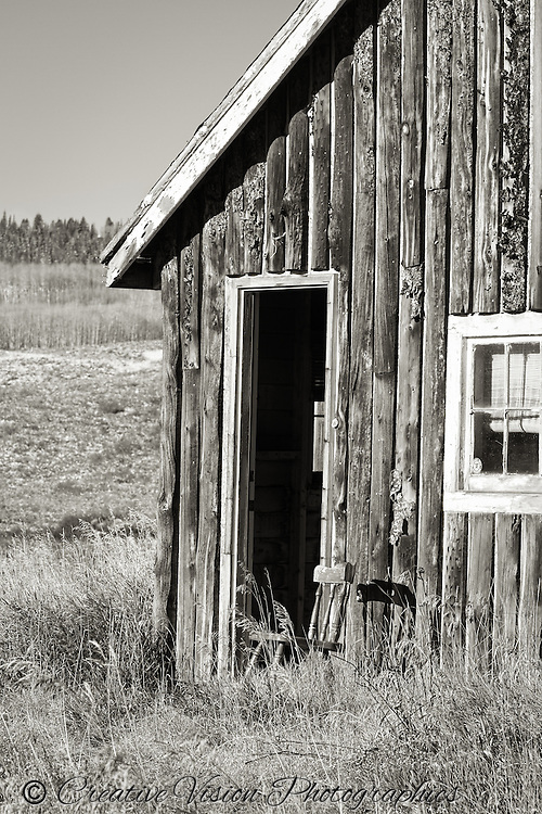 A small ghost town gives evidence of it's past near Muddy Creek Pass in northern Colorado.