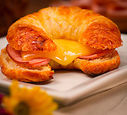 Ham and cheese crosissant at The Cheese Cours in Boca Raton