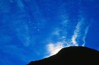 Cirrus intortus clouds over the Kenai Peninsula, Alaska.