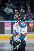 KELOWNA, CANADA - DECEMBER 27: The Pepsi player of the game lines up on December 27, 2016 at Prospera Place in Kelowna, British Columbia, Canada.  (Photo by Marissa Baecker/Shoot the Breeze)  *** Local Caption ***