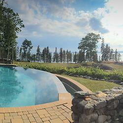 Poolside, Nautilus Island, Castine, Maine, US