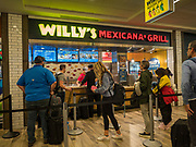 17 FEBRUARY 2020 - ATLANTA, GEORGIA:   A Mexican style restaurant in a food court in Atlanta's Hartsfield–Jackson Atlanta International Airport, the world's busiest airport by passenger count.  PHOTO BY JACK KURTZ