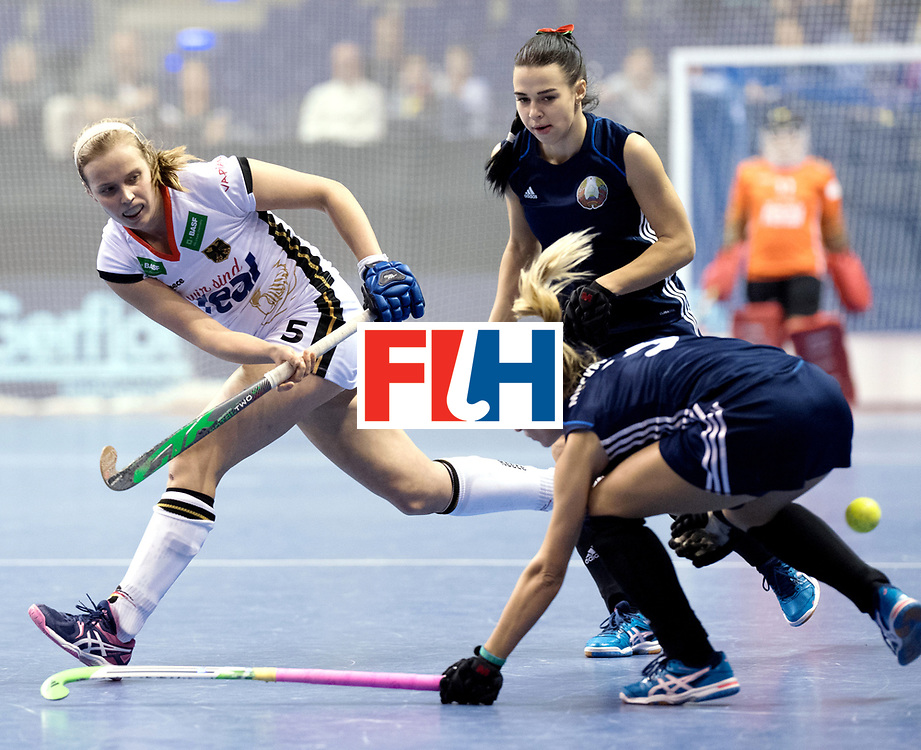 BERLIN - Indoor Hockey World Cup<br /> Semi-final: Belarus - Germany<br /> foto: Viktoria Huse.<br /> WORLDSPORTPICS COPYRIGHT FRANK UIJLENBROEK