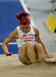 Nina Kolaric of Slovenia competes in the women's Long Jump Qualification during day seven of the 12th IAAF World Athletics Championships at the Olympic Stadium on August 21, 2009 in Berlin, Germany.(Photo by Vid Ponikvar / Sportida)