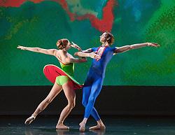 New English Ballet Theatre<br /> SYNERGIES<br /> at The Peacock Theatre, London, Great Britain <br /> rehearsal <br /> 4th July 2012 <br /> Karen Pilkington-Miksa - founding director <br /> <br /> Classical Symphony <br /> choreography by Jenna Lee<br /> company <br /> <br /> <br /> <br /> Legends <br /> Pas de Deux<br /> by Michael Corder<br /> <br /> Ivan Delgado del Rio<br /> Chiaki Korematsu <br />  <br /> Threefold <br /> choreography by George Williamson <br /> <br /> Hayley Blackburn<br /> Eugenia Brezzi<br /> Katya Bourvis<br /> Alex Harrison <br /> <br /> <br /> Lonesome Gun <br /> Choreography Kristen McNally <br /> <br /> company plus<br /> Hayley Forskitt<br /> and<br /> Luca Rapis<br /> <br />  <br /> <br /> <br /> Photograph by Elliott Franks