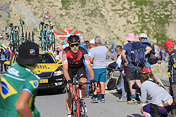 Michael Schar (SUI) BMC Racing Team climbs Col d'Izoard during Stage 18 of the 104th edition of the Tour de France 2017, running 179.5km from Briancon to the summit of Col d'Izoard, France. 20th July 2017.<br /> Picture: Eoin Clarke | Cyclefile<br /> <br /> All photos usage must carry mandatory copyright credit (© Cyclefile | Eoin Clarke)