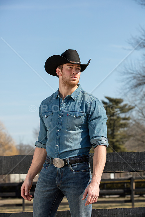 hot cowboy on a ranch