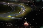 January 27-31, 2016: Daytona 24 hour: Daytona speedway at night. #28 Rolf Ineichen, Lance Willsey Franz Konrad, Fabio Babini, Marc Basseng, Konrad Motorsport, Lamborghini Huracán GT3, #21 Jim Michaelian, Emanuele Busnelli, Konrad Motorsport, Lamborghini Huracán GT3