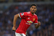 Marcus Rashford of Manchester United during the Premier League match between Brighton and Hove Albion and Manchester United at the American Express Community Stadium in Brighton and Hove. 04 May 2018