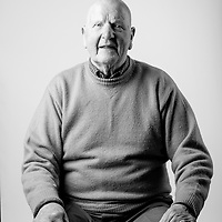 Archie Thomson, Royal Air Force, SAC, Shackleton Bomber Mechanic, 1952-1955, RAF Coastal Command, 120 Sqn Northern Ireland,   Archie is also registered blind and regularly attends the Scottish War Blinded centre. Veterans Portrait Project UK, Edinburgh, Scotland