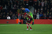 Football - 2016 / 2017 UEFA Europa League - Group K: Southampton vs Inter Milan<br /> <br /> Southampton's Nathan Redmond comes under some tight marking from an Inter defender at St Mary's Stadium Southampton England<br /> <br /> COLORSPORT/SHAUN BOGGUST