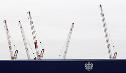 Cranes overlook Loftus Road, home of QPR - Mandatory by-line: Robbie Stephenson/JMP - 01/04/2016 - FOOTBALL - Loftus Road - London, England - Queens Park Rangers v Middlesbrough - Sky Bet Championship