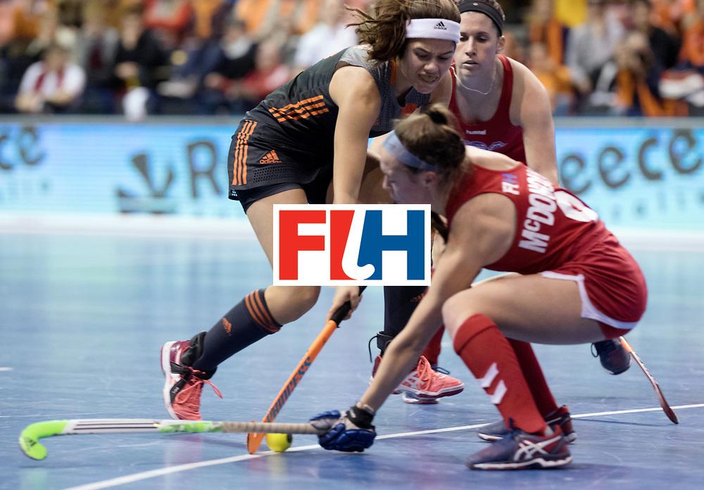 BERLIN - Indoor Hockey World Cup<br /> Women: Netherlands - United States<br /> foto: Noor de Baat.<br /> WORLDSPORTPICS COPYRIGHT FRANK UIJLENBROEK
