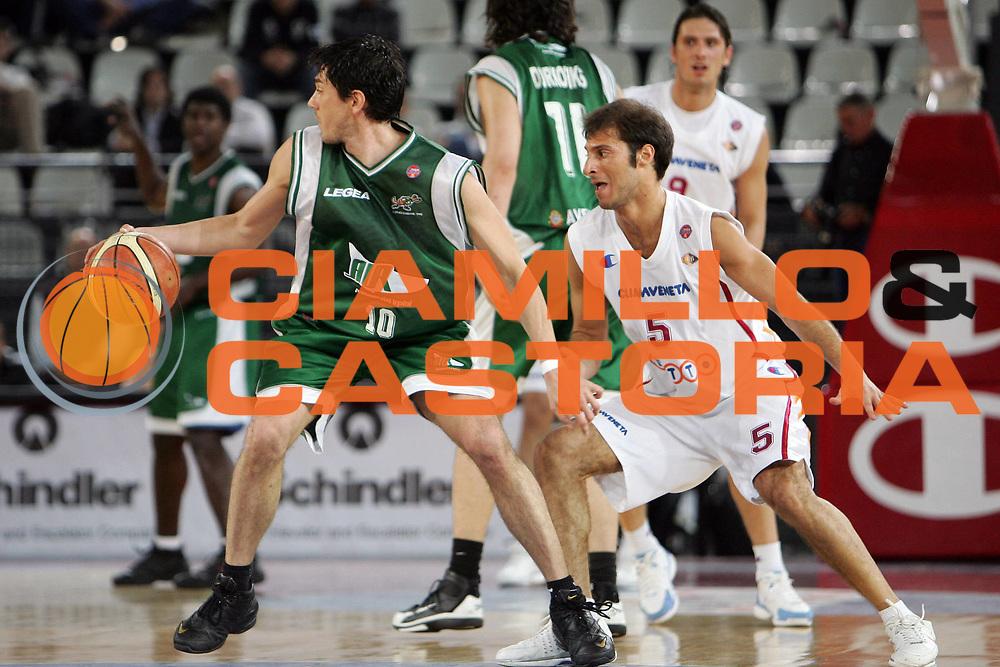 DESCRIZIONE : Roma  Lega A1 2005-06 Lottomatica Roma-Air Avellino<br /> GIOCATORE : Bonora<br /> SQUADRA : Air Avellino<br /> EVENTO : Campionato Lega A1 2005-2006 <br /> GARA : Lottomatica Virtus Roma Air Avellino<br /> DATA : 20/04/2006 <br /> CATEGORIA : Palleggio<br /> SPORT : Pallacanestro <br /> AUTORE : Agenzia Ciamillo-Castoria/E.Castoria
