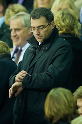 LIVERPOOL, ENGLAND - Saturday, November 20, 2010: Liverpool's Director of Football Damien Comolli during the Premiership match against West Ham United at Anfield. (Photo by: David Rawcliffe/Propaganda)