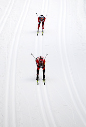 30.12.2011, DKB-Ski-ARENA, Oberhof, GER, Viessmann FIS Tour de Ski 2011, Pursuit/ Verfolgung Damen im Bild Justyna Kowalczyk (POL) vor Marit Bjoergen (NOR) . // during of Viessmann FIS Tour de Ski 2011, in Oberhof, GERMANY, 2011/12/30 .. EXPA Pictures © 2011, PhotoCredit: EXPA/ nph/ Hessland..***** ATTENTION - OUT OF GER, CRO *****