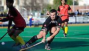 Issac Staples of New Zealand goes for goal, Junior Black Sticks Men vs Malaysia Juniors international Under 21 Hockey, 7 June 2011, Alexander McMillan Hockey Centre Dunedin, New Zealand. Photo: Richard Hood/photosport.co.nz