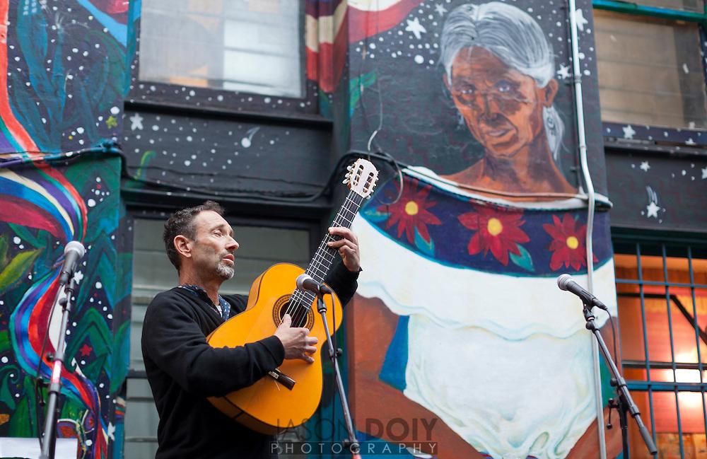 Jonathan Richman talks at the San Francisco International Poetry Festival...photo by Jason Doiy