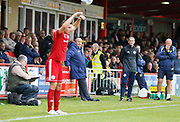 Accrington Stanley Manager John Coleman during the EFL Sky Bet League 1 match between Accrington Stanley and Burton Albion at the Fraser Eagle Stadium, Accrington, England on 8 September 2018.
