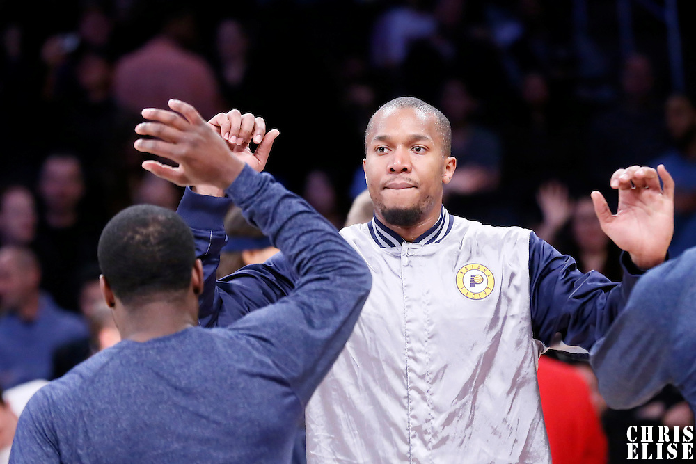 04 January 2014: Indiana Pacers forward David West (21) is seen during the players introduction prior to  the Los Angeles Lakers 88-87 victory over the Indiana Pacers, at the Staples Center, Los Angeles, California, USA.