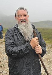 Despite the cancellation notices Daniel Connell from Banagher Co Offaly was amoung the many pilgrims who braved the conditions to climb Croagh Patrick yesterday.<br /> Pic Conor McKeown