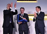 Roma 15 dicembre 2015<br /> CONI <br /> Sala delle armi, cerimonia di consegna dei Collari d'Oro.<br /> Il Premier Matteo Renzi ed il Presidente del Coni Giovanni Malago' premiano i Campioni Mondiali del 2015 e gli olimpionici viventi che, prima del 1995, non avevano mai ricevuto tale onorificenza.<br /> Nella foto Massimo Moratti.<br /> Foto Simone Ferraro / GMT