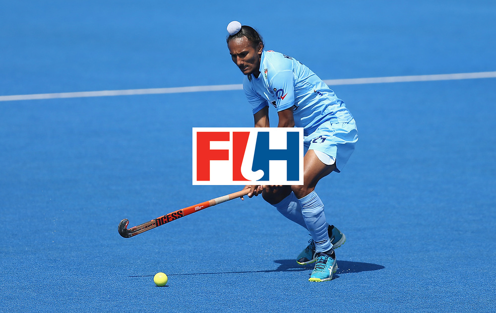 LONDON, ENGLAND - JUNE 20:  Harjeet Singh of India during the Pool B match between India and the Netherlands on day six of the Hero Hockey World League Semi-Final at Lee Valley Hockey and Tennis Centre on June 20, 2017 in London, England.  (Photo by Alex Morton/Getty Images)